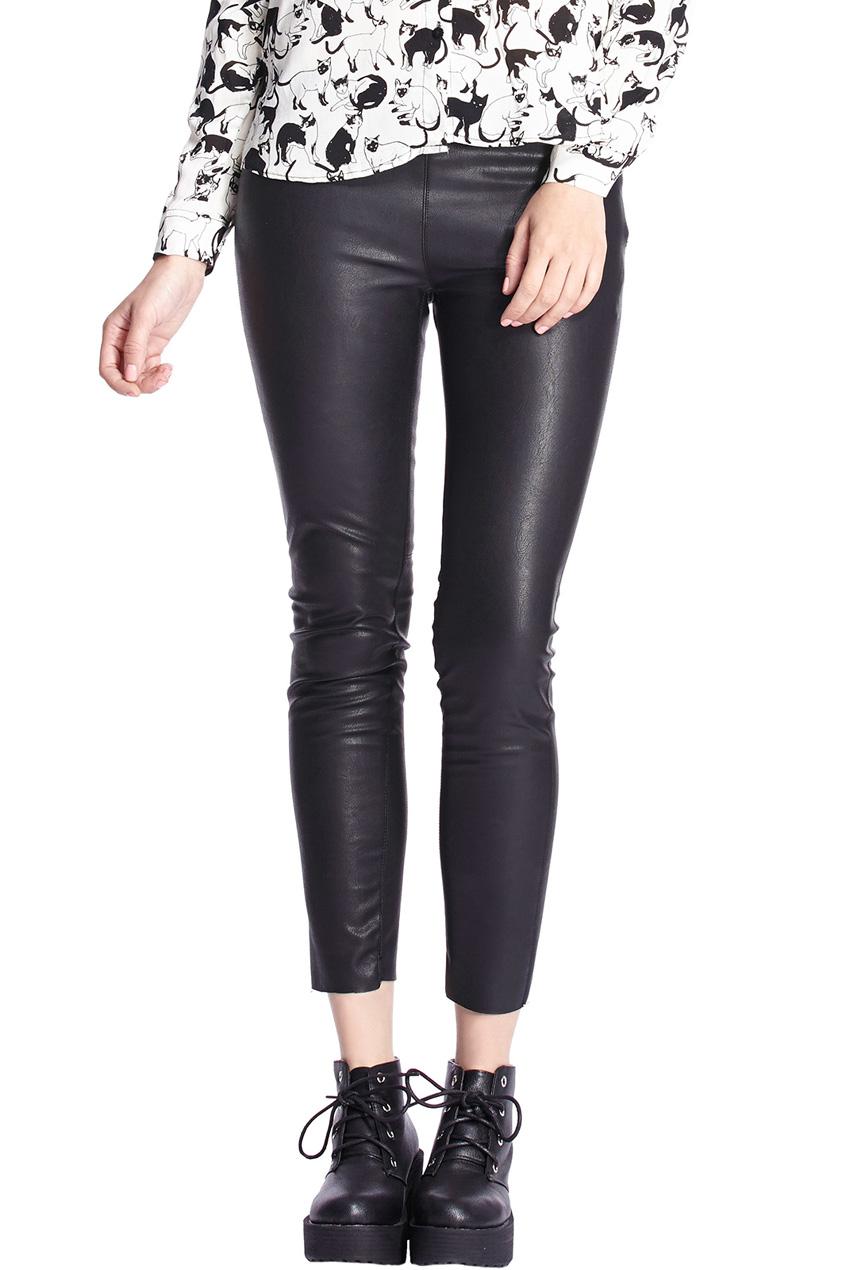 ROMWE   Zippered Elastic Black Skinny Pants, The Latest Street Fashion