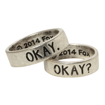 The Fault In Our Stars Okay? Okay His & Hers Ring Set on Wanelo