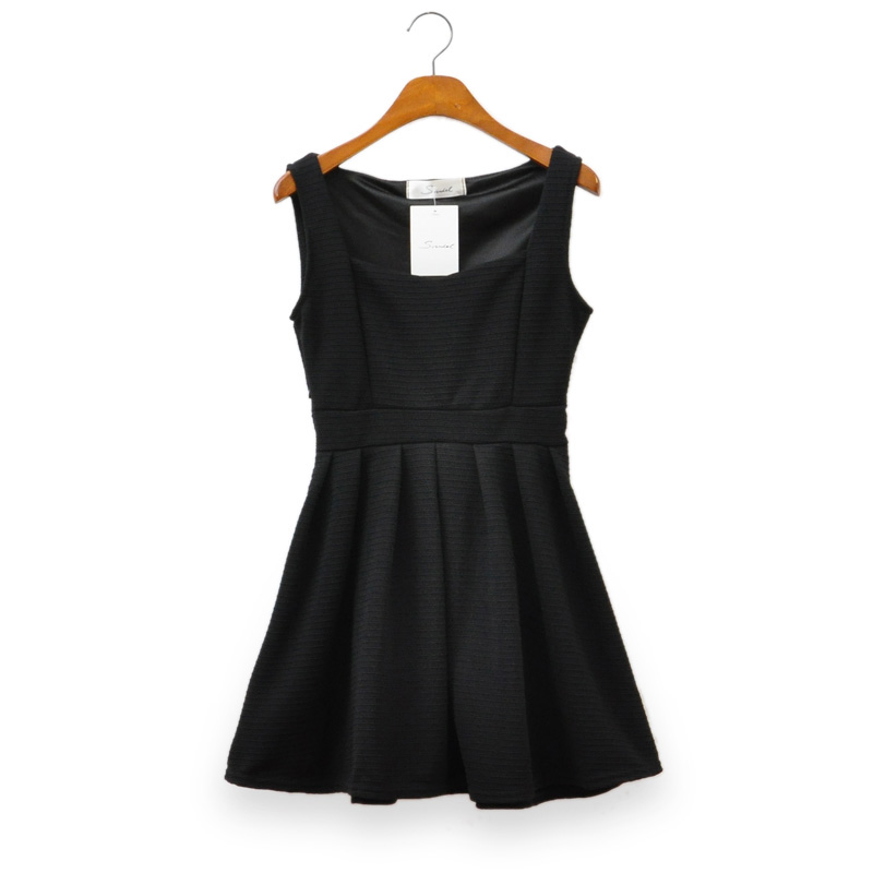 Aliexpress.com : Buy Free Shipping High waisted pleated slim Hepburn little black dress from Reliable dress and suppliers on ED FASHION.
