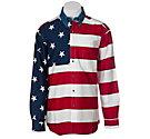 Roper L/S American Flag Shirt 01850101RE | Cavender's