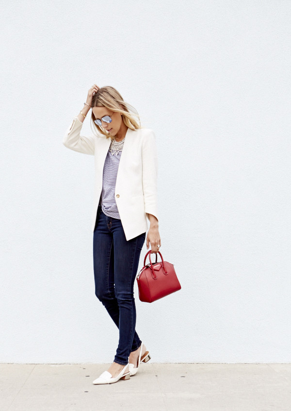 damsel in dior jewels jacket bag tank top jeans sunglasses
