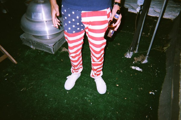 american flag menswear pants