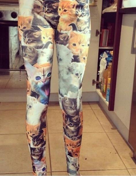 leggings cats cat face cat leggings