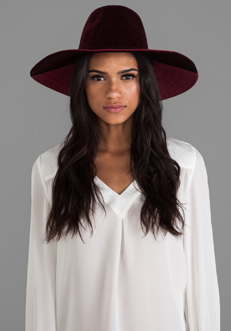 UNIF Lore Hat in Red Velvet at Revolve Clothing - Free Shipping!