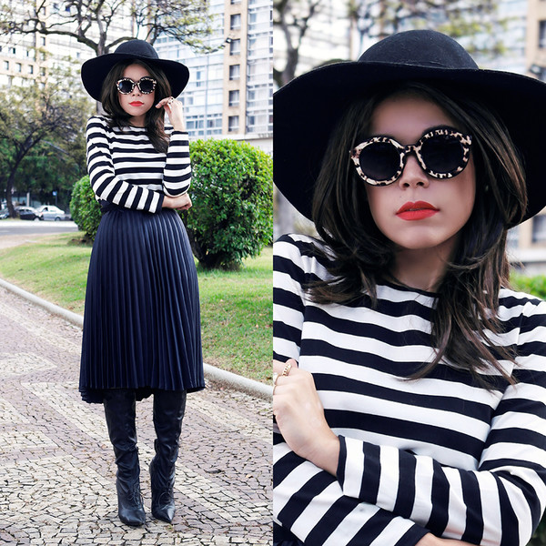 look at me br skirt sunglasses shoes hat