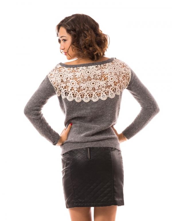 Jersey Cloud cuello barco con detalle crochet espaldade Vero Moda | BUYLEVARD