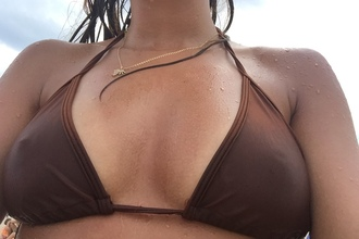swimwear brown bikini bikini top