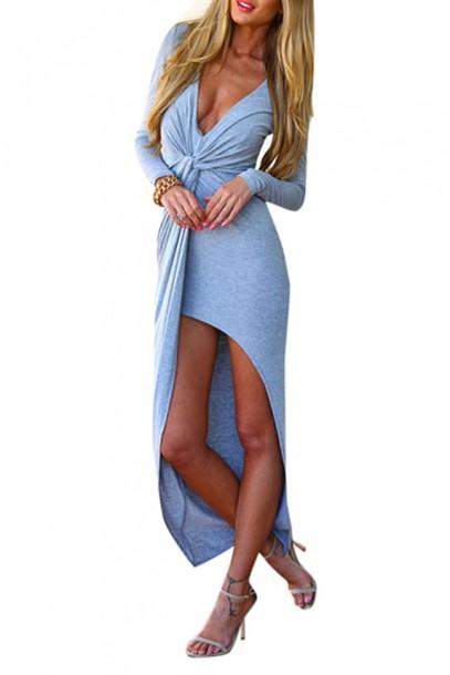 dress slit dress knot knotted dress