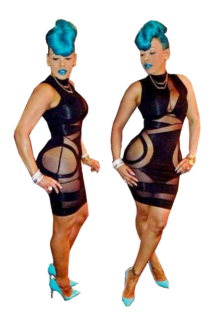 Black Blush Contrast Bodycon Dress - LaFashioniStar's