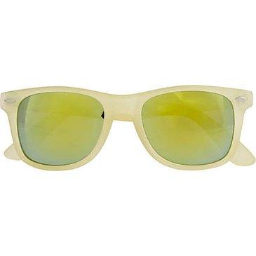 cream retro sunglasses - retro sunglasses - sunglasses - women - River Island from riverisland.com   FASHIOLISTA   love your style!