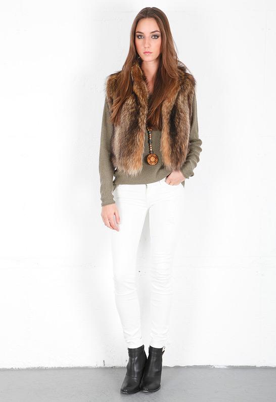 KORAL Destroyed Skinny Jean in White | SINGER22.com