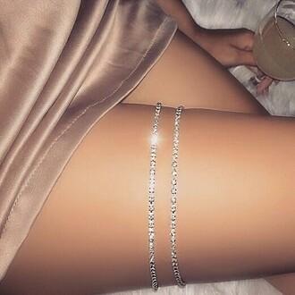 jewels thigh chain diamonds