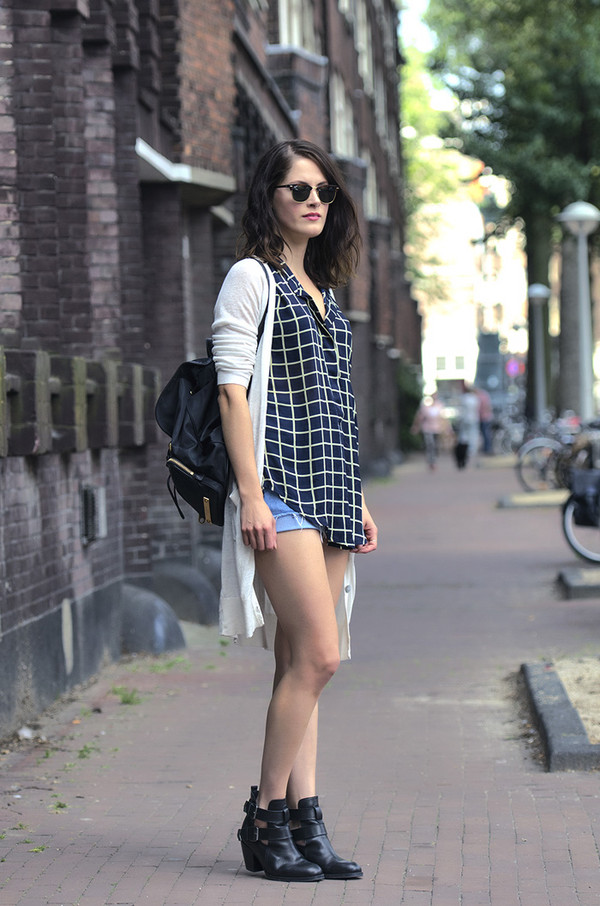 fashion fillers sweater blouse shorts