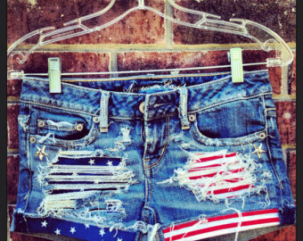 Popular items for American flag shorts on Etsy