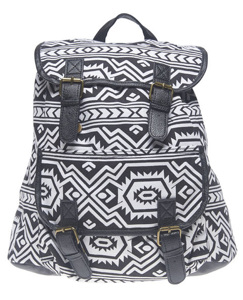 Tribal Print Canvas Backpack | Wet Seal