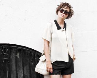 scalloped glamourai black shorts shorts