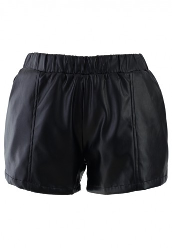 Faux Leather Shorts - Retro, Indie and Unique Fashion