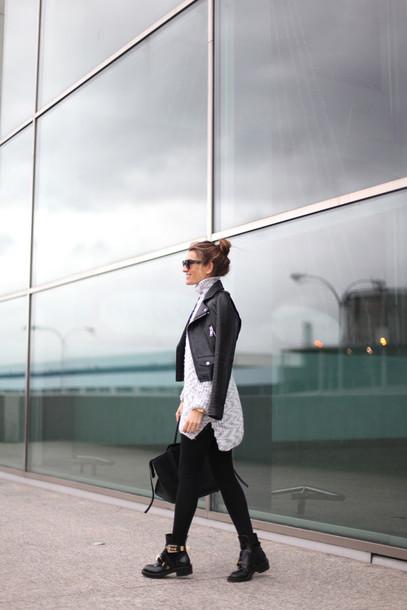 b a r t a b a c blogger sweater skirt shoes bag jacket