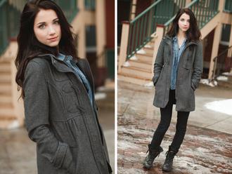 jacket duffel jacket duffel vintage autumn coat