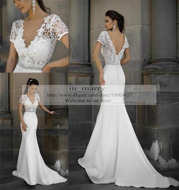 Dress Mermaid Wedding Y Dresses Vintage Lace