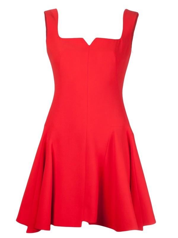 dress alexander mcqueen red dress