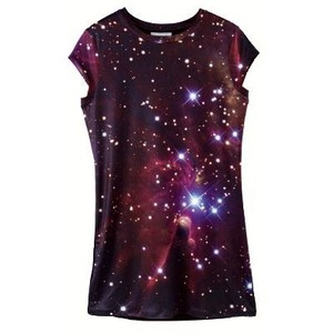 Women's printed galaxy constellation T-shirt, size 34 to 48 - Polyvore