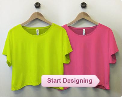 Custom Neon Shirts, Custom Neon Tank Tops, Personalized Neon T-Shirts