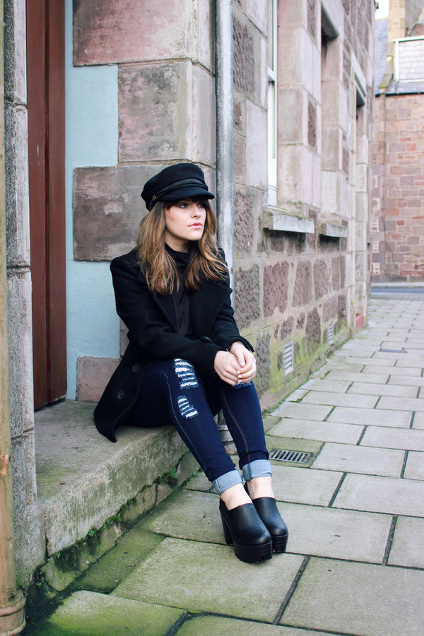 the little magpie coat shoes jeans t-shirt