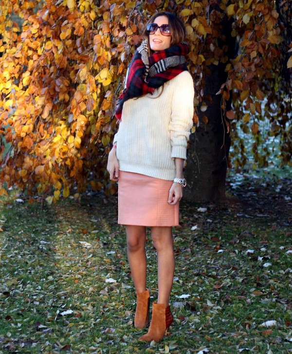rebel attitude skirt sweater shoes scarf