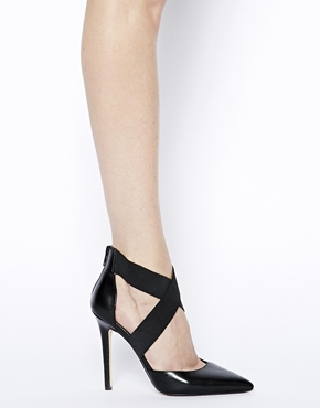 Dune | Dune Demie Black Pointed Strappy Court Shoes at ASOS