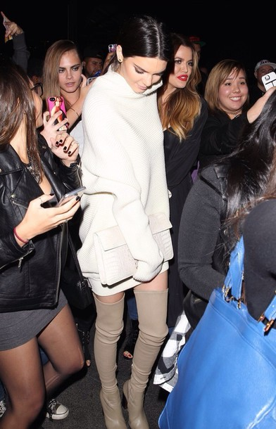 turtleneck beige sweater dress knee high boots sweater dress turtleneck oversized turtleneck sweater