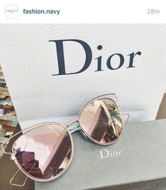 sunglasses dior beauiful fashion dior sunglasses sun glasses brand style stylish copper rose gold pink ombre rose gold sunglasses dior sunnies accessories accessory trendy summer summer accessories pink sunglasses
