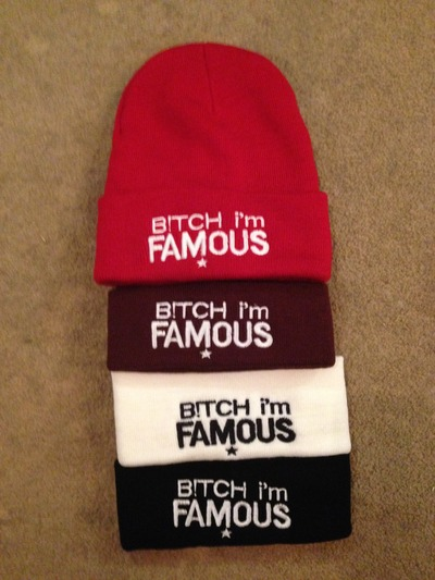 BITCH IM FAMOUS beanie · Fashionique · Online Store Powered by Storenvy