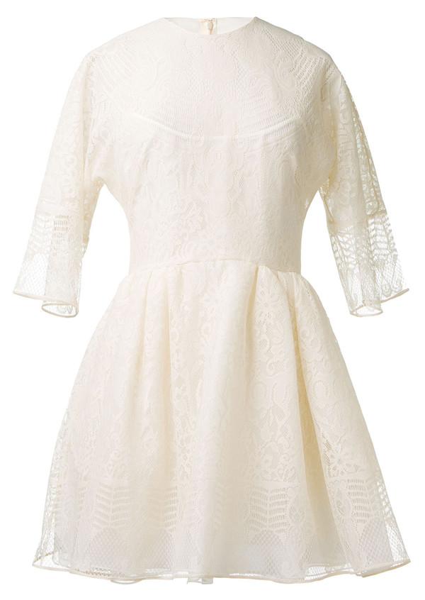 dress valentino white lace dress