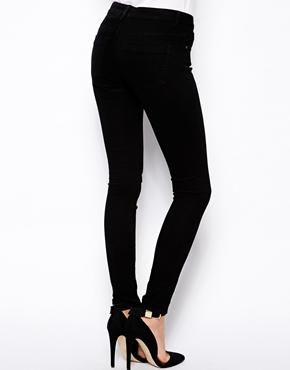 ASOS | ASOS Whitby Low Rise Skinny Jeans in Clean Black at ASOS
