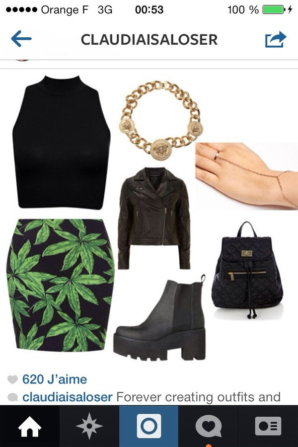 skirt drugs bag jewels shoes canabis indie hipster blues old