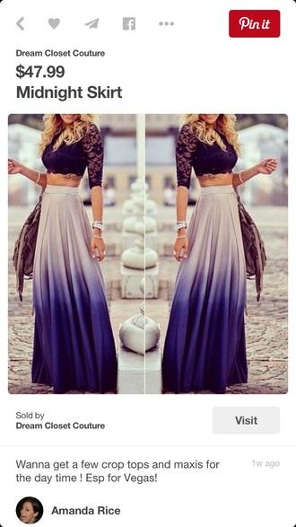 skirt maxi skirt sexy purple purple ombre skirt purple ombre free vibrationz