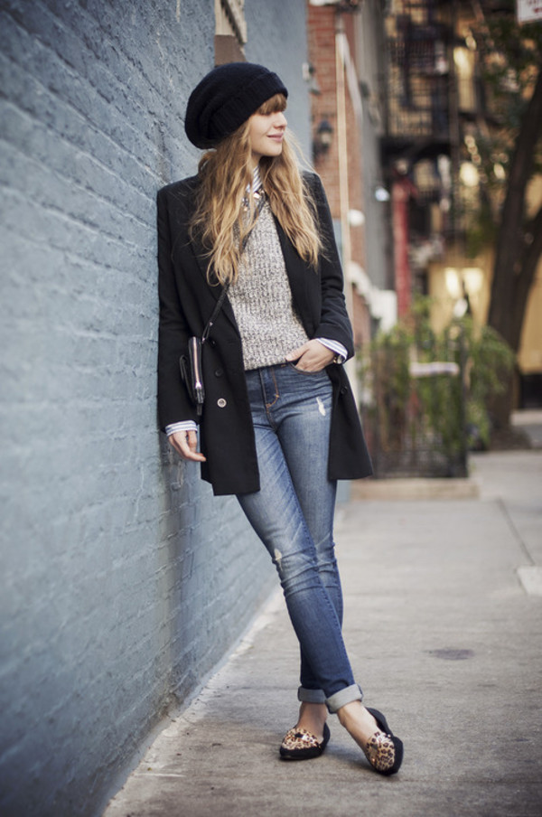 just another me jeans shirt sweater jacket shoes jewels hat bag