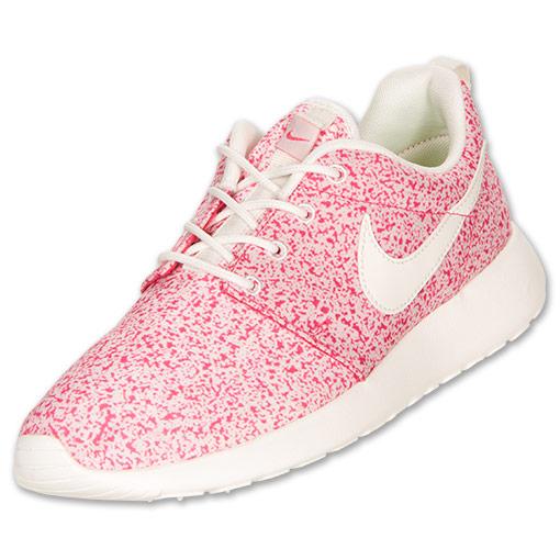 Women's Nike Roshe Run Casual Shoes  FinishLine.com   Sail/Pink Force/Sail
