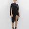 Vivienne velvet slit dress in black at flyjane