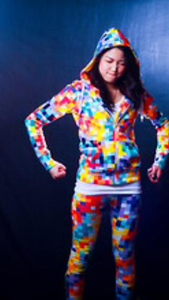 jumpsuit tetris outfit multicolor tracksuit