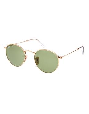 Ray-Ban   Ray-Ban Crystal Green Round Sunglasses at ASOS