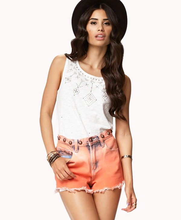 shorts tank top forever 21
