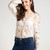 Crochet Lace Top - White - LookbookStore