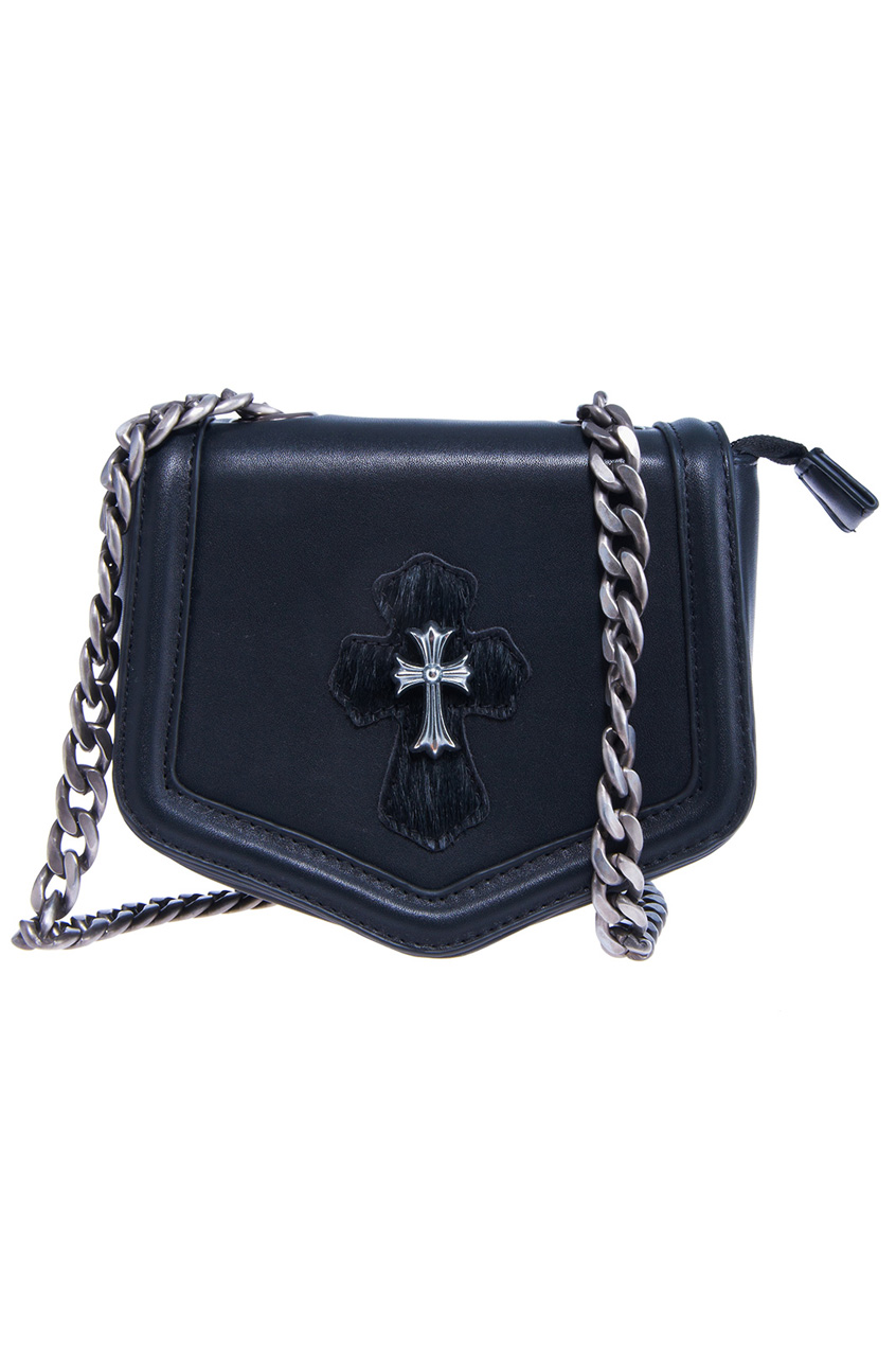 ROMWE | ROMWE Gorgeous Cross Embellished Faux Leather Bag, The Latest Street Fashion