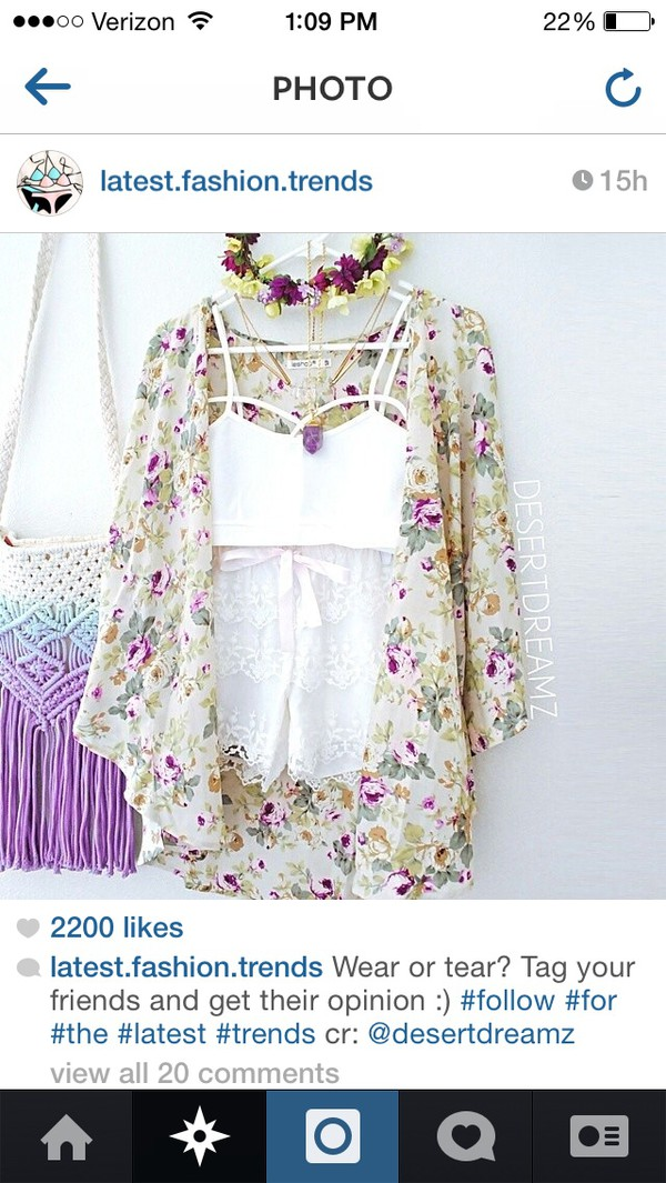 blouse shorts top sweater floral
