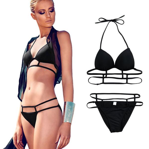 swimwear moeva black bikini black bikini summer