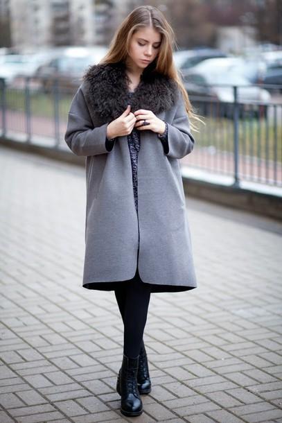 acid coke blogger coat grey grey coat