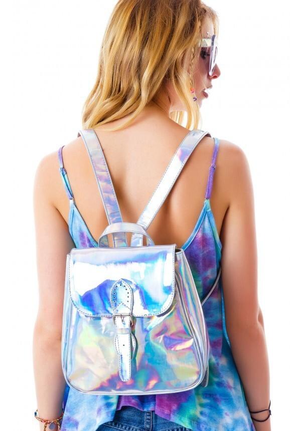 bag silver backpack