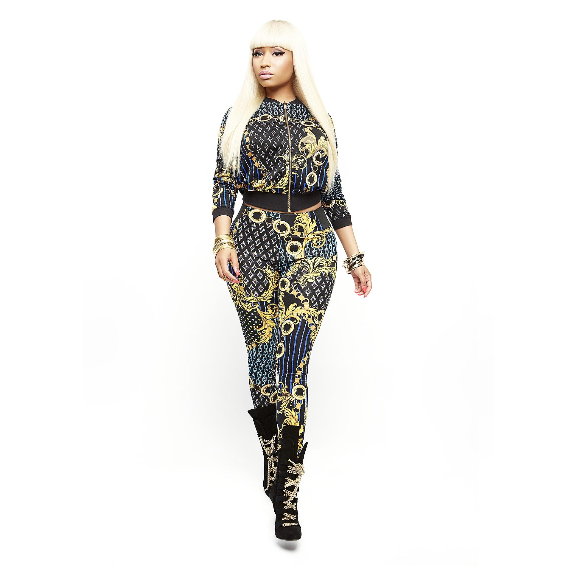 Nicki Minaj Women's Bomber Jacket - Chain Print - Clothing - Women's - Jackets & Blazers